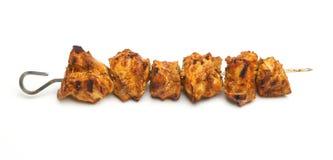 Kebab indiano di Tikka del pollo Immagini Stock Libere da Diritti