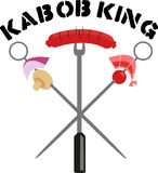 Kebab-König Lizenzfreie Stockbilder