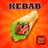 Kebab kanapka Royalty Ilustracja