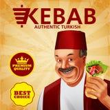 Kebab kanapki premia Royalty Ilustracja