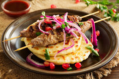 Kebab of lamb, Stock Photo