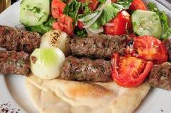 Kebab mélangé Photos libres de droits