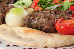 Kebab mélangé Photo libre de droits
