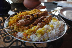 Kebab marocchino Fotografia Stock