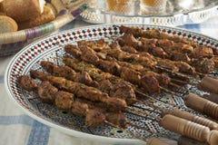 Kebab marroquí del cordero imagenes de archivo