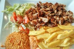 Kebab meal Stock Images