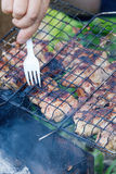 Kebab meat barbecue Stock Photo
