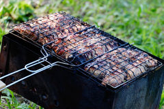 Kebab meat barbecue Royalty Free Stock Photos