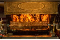 Kebab. meat cooked on a wood fire,. Kebab. meat cooked on a wood fire royalty free stock photo