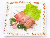 Kebab meat with herbs Stock Image
