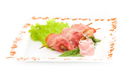 Kebab meat with herbs Stock Photography