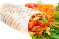 Kebab med grönsaker Arkivfoto