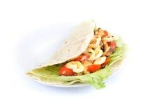 Kebab met groente Stock Afbeeldingen
