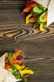 Kebab met groenten en kip Stock Foto