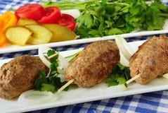 Kebab met groenten en kruiden royalty-vrije stock fotografie