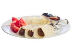 Kebab met saus Stock Foto's