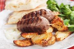 Kebab, minced meat skewer Royalty Free Stock Photos