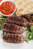 Kebab, minced meat skewer Stock Image