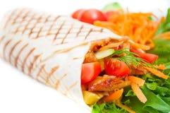 Kebab mit Gemüse Stockfoto