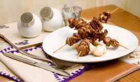 Kebab mit Knoblauch Lizenzfreies Stockfoto
