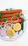 Kebab mit Zitrone und Zwiebeln Lizenzfreie Stockbilder