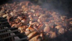 Kebab na grillu z bliska zdjęcie wideo