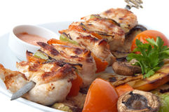 Kebab Nahaufnahme Lizenzfreies Stockbild