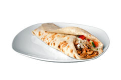 Kebab op een schotel Stock Foto