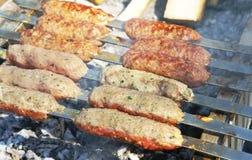 Kebab op vleespennen Royalty-vrije Stock Afbeelding