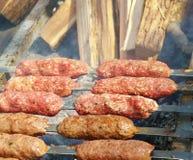 Kebab op vleespennen Royalty-vrije Stock Foto's