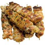 Kebab op vleespennen Royalty-vrije Stock Afbeeldingen