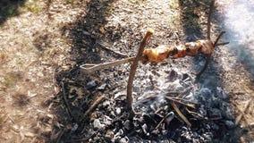 Kebab på brand, en härlig sammansättning lager videofilmer