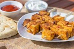 Kebab Paneer Tikka Stockfotos