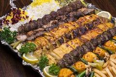Kebab persa de la mezcla Fotografía de archivo