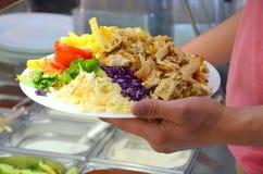 Kebab-Platte Stockbilder