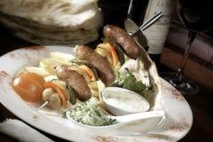 Kebab platter Stock Photo