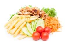 Kebab с potatoe Стоковая Фотография