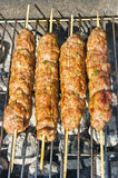 Kebab during the preparation Stock Image