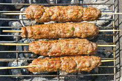 Kebab during the preparation Stock Photos