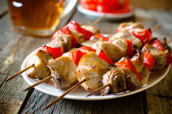 Kebab with red pepper Royalty Free Stock Photography