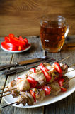 Kebab with red pepper Stock Photography
