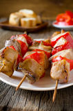 Kebab with red pepper Royalty Free Stock Image