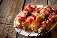 Kebab with red pepper Royalty Free Stock Images