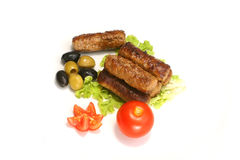 Kebab rolls and olive Stock Image