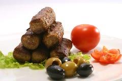 Kebab rolls on plate Royalty Free Stock Photo