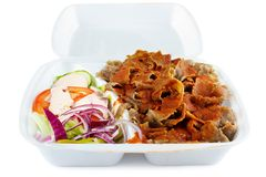 Kebab with salad