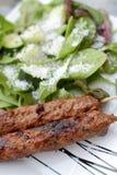 Kebab and Salad Royalty Free Stock Images