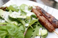 Kebab and Salad Stock Images