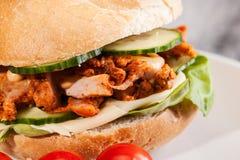Kebab sandwich Stock Photography