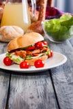Kebab sandwich Stock Images